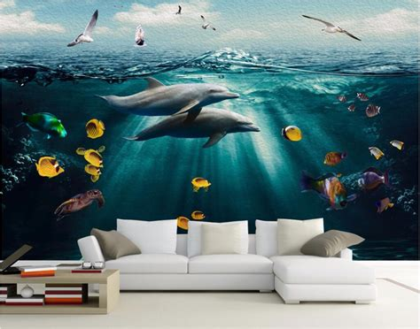 custom murals 3d room wallpaper landscape custom mural undersea world