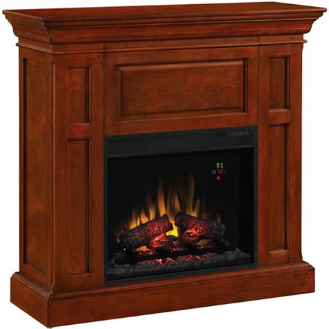 chimneyfree dual entertainment electric fireplace cherry