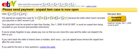 ebay unpaid item case would you mind awfully paying for your ebay purchase