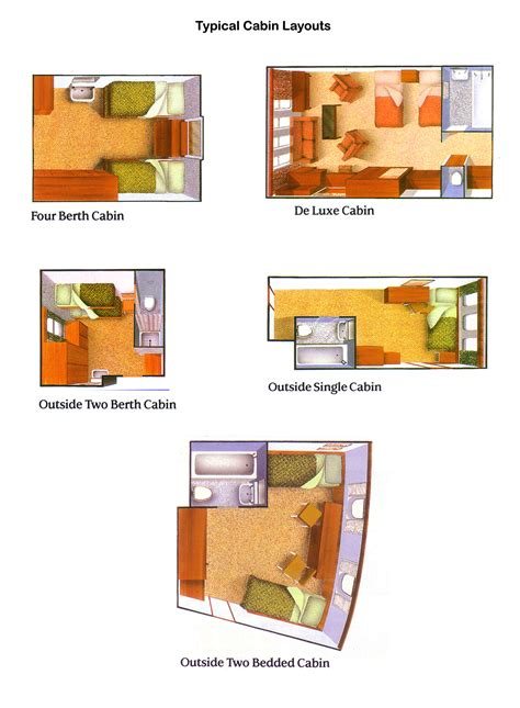 cabin layouts deck plans and cabin layouts