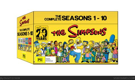 Home Design Games For Xbox 360 The Simpsons Seasons 1 10 Box 20 Years Box Art