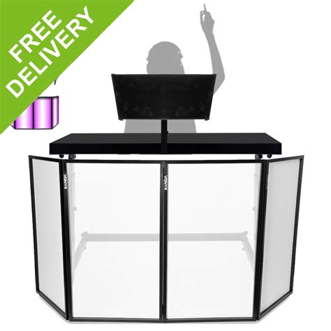mix table dj dj mixing console table stand w vonyx foldable lighting screen 4 panel fa 231 ade ebay
