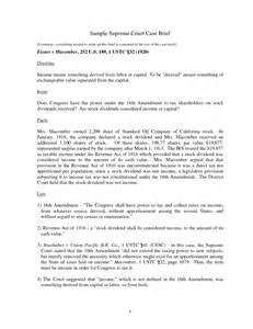 legal brief sample template