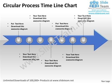 flock not clock align processes and systems to achieve your vision books business power point templates circle process time line