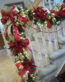 Christmas Garland For Banister Christmas Garlands For Stairs Fireplaces And Lights