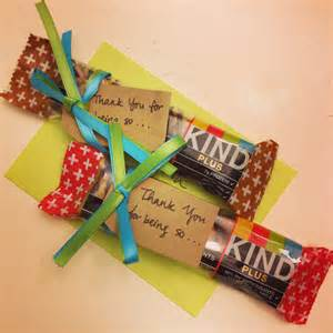 thank you gift idea using bars crafty