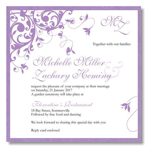 Budget Wedding Invitations Template Wedding Flourish