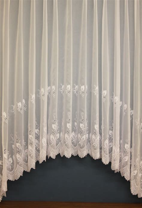 white embroidered curtains chloe white embroidered voile jardinieres