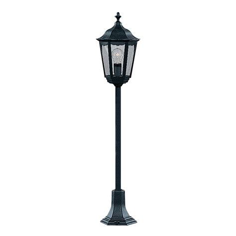 L Post Lighting Fixtures Searchlight 82504bk Alex 1 Light Outdoor Post