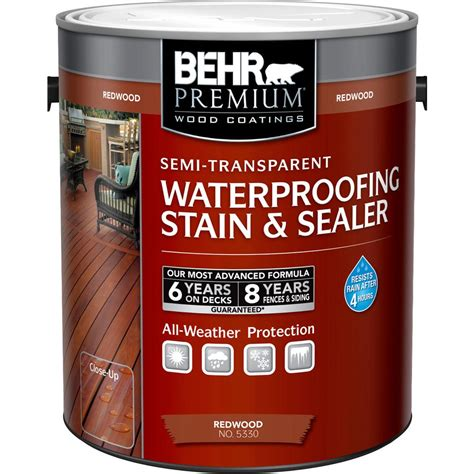 home depot paint for wood behr premium 1 gal st 330 redwood semi transparent