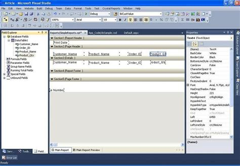 html design viewer generate a report using crystal reports in visual studio