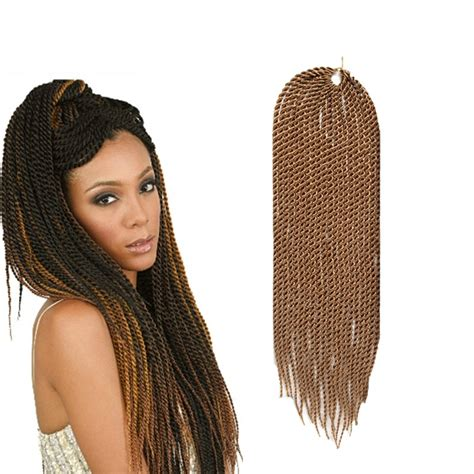 pre braided senegalese twist hair in pack 4 bundles senegalese twist crochet braiding hair 18