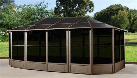12 x 15 gazebo sojag monterey 12 ft x 15 ft solarium dro press gazebos