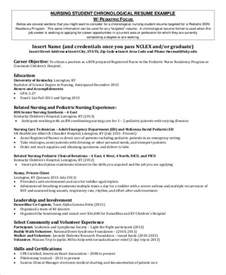 Nursing Resume Objectives Sample Student Nurse Resume 8 Examples In Word Pdf