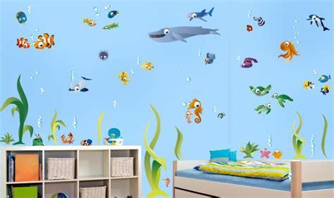 Wandtattoos Kinderzimmer Fische Meereswelt by Wandtattoo Set Gro 223 E Bunte Unterwasserwelt