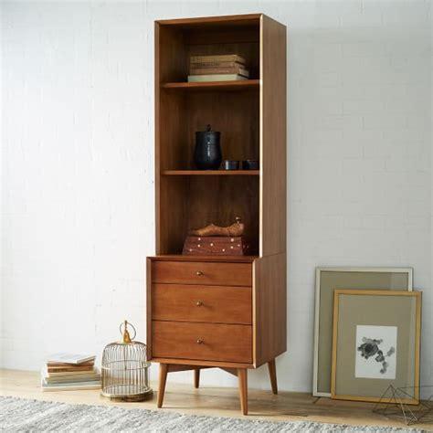 west elm bookshelves mid century bookcases acorn west elm