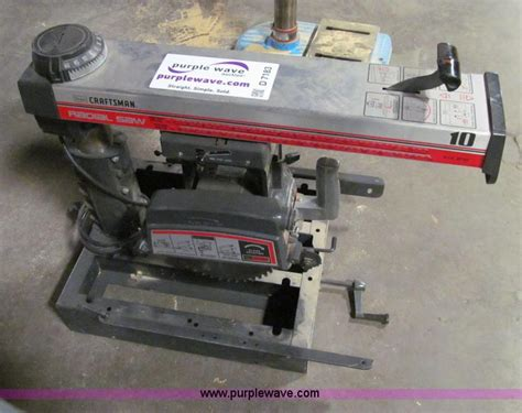 Hp Eiger Crafter 5 5 Gr craftsman radial saw no reserve auction on tuesday april 09 2013