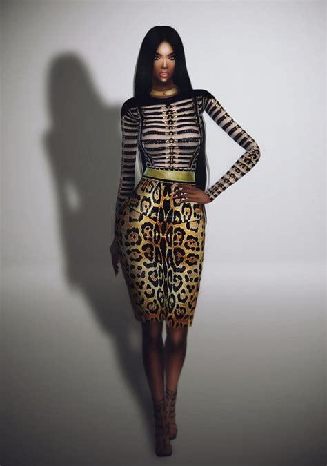 sims 4 royalty dresses leopard dress kim kardashian outfit at fashion royalty