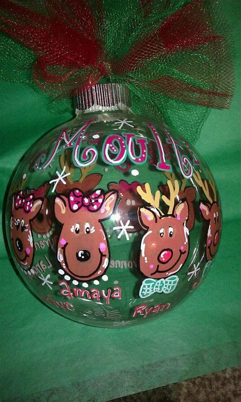 painted christmas balls