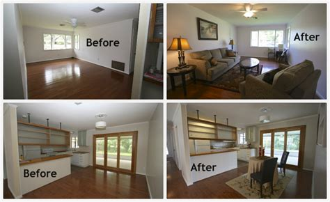 before and after staging home staging