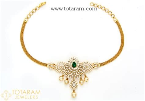 Jewelry Colour Culture 18k gold choker necklace with japanese culture