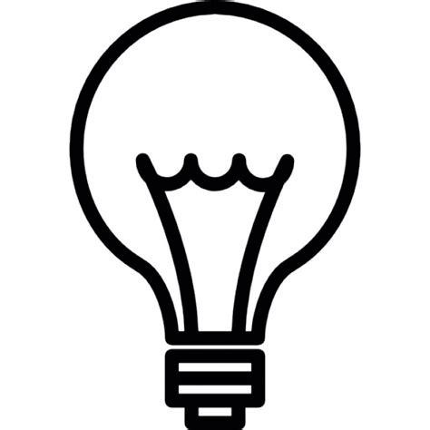 idea light bulb thin line ios 7 interface symbol icons