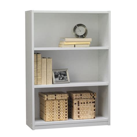 mainstays 3 shelf bookcase white walmart