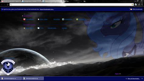 wallpaper chrome exo chrome theme mlp luna by lagmobile on deviantart