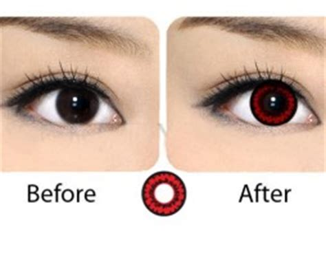 red contact lenses product categories | contacts cow