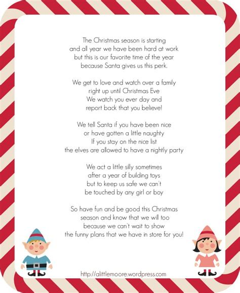 printable elf on the shelf arrival letter 19 best images about elf on shelf letters on pinterest
