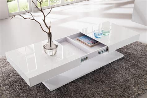 layout pas photo table basse design blanc laqu 233 avec rangements et plateaux