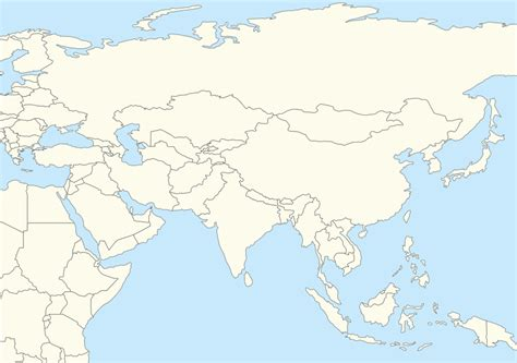 asia map with names asia map no names travel maps and major tourist