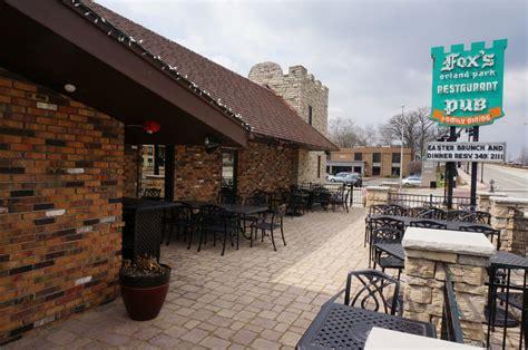 patio menu orland park foxs orland park restaurant and pub pizza 9655 w 143rd