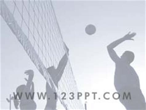 volleyball templates for powerpoint royalty free volleyball powerpoint background in blue