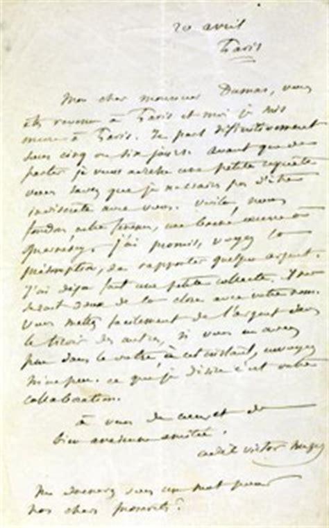 Exemple De Lettre Ouverte Victor Hugo Alexandre Dumas Gt
