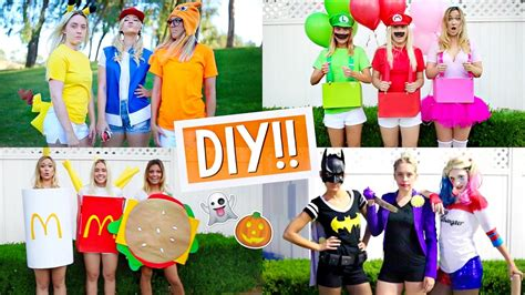 diy halloween costumes  groups alisha marie youtube