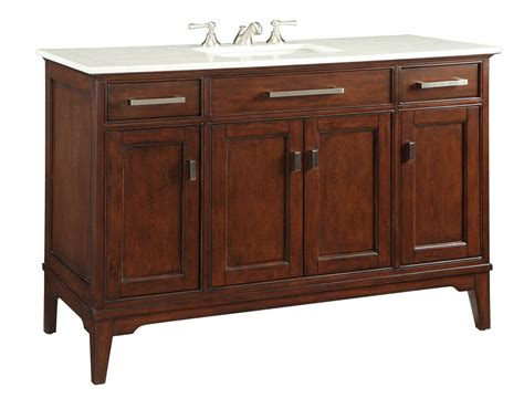 49 inch bathroom vanity transitional style tobacco color