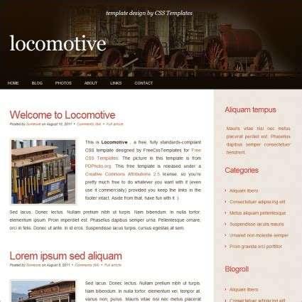 Locomotive Free Website Templates In Css Html Js Format For Free Download 121 50kb Freecsstemplates Org Templates