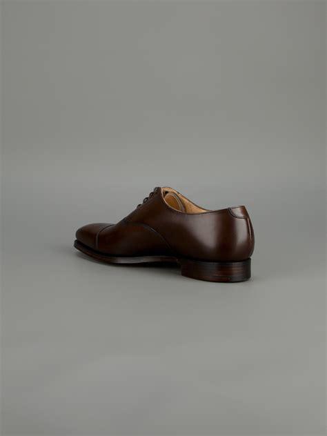 crockett and jones oxford shoes crockett and jones hallam oxford shoe in brown for lyst