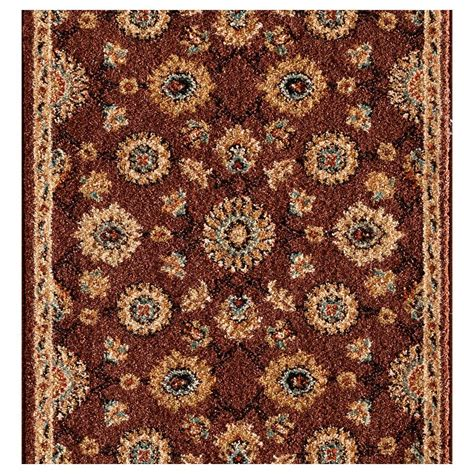 roll runner rugs natco kurdamir washington black 33 in x your choice length roll runner 2068bkwrh the home depot