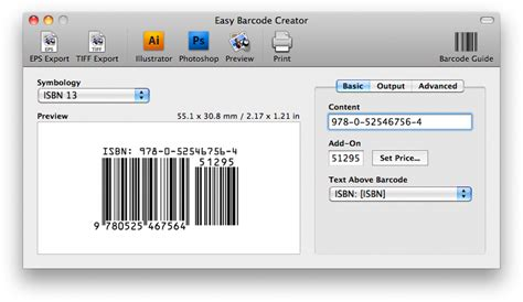 Software Barcode For Mac easy barcode software for mac os x and windows barcode for mac pc