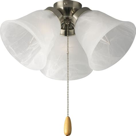 Home Depot Ceiling Fan With Light by Progress Lighting Airpro 3 Light Brushed Nickel Ceiling