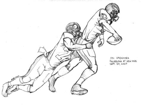 coloring page of a football player nfl football players eagles coloring pages sports