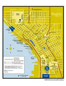 Street Map Of Seattle by Downtown Seattle Map Seattle Wa Mappery