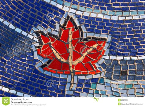 mosaic pattern on leaves mosaic tile maple leaf pattern stock photos image 2821693