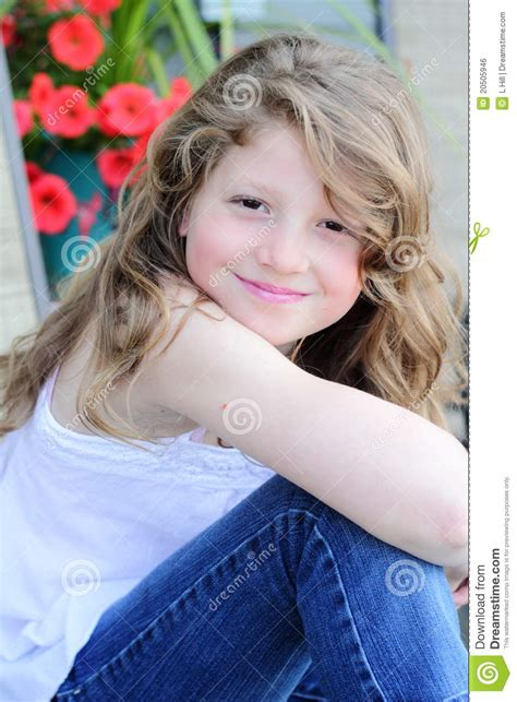 preteen model hair pretty preteen girl with long hair royalty free stock