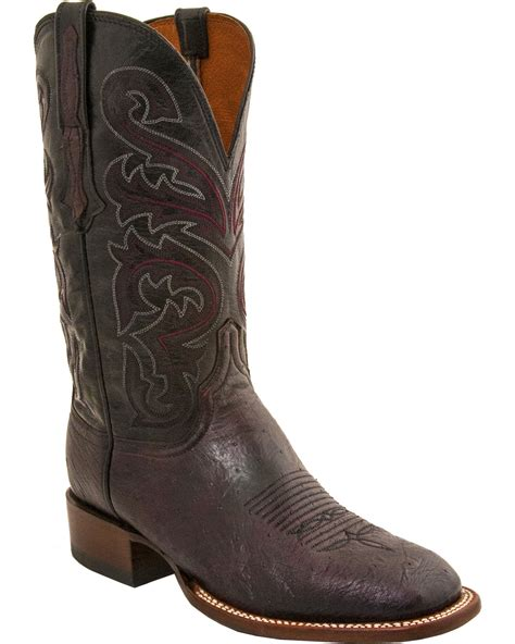 lucchese square toe boots mens lucchese s handmade lance smooth ostrich horseman
