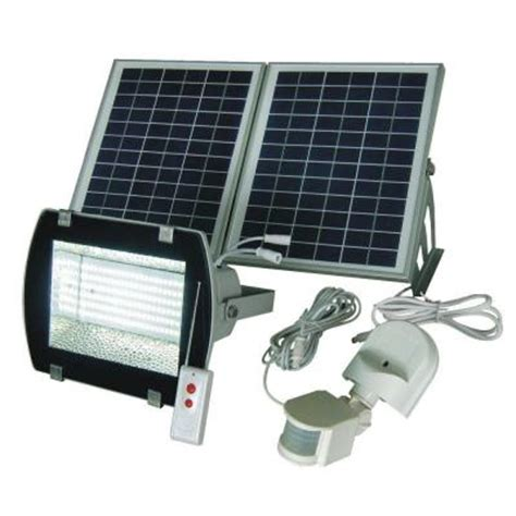 Solar Goes Green Industrial Solar 50 Ft Range White Grey Industrial Outdoor Led Flood Lights