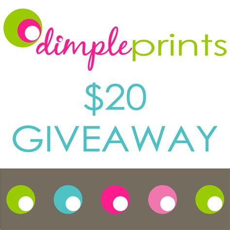 Giveaway Or Give Away - giveaway closed dimpleprints give away 2 winners