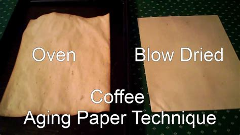 How To Make Paper Look Without Oven - two techniques for aging paper with coffee more paper
